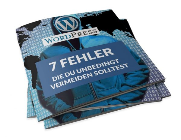E-Book 7 Wordpress-Fehler die du unbedingt vermeiden solltest