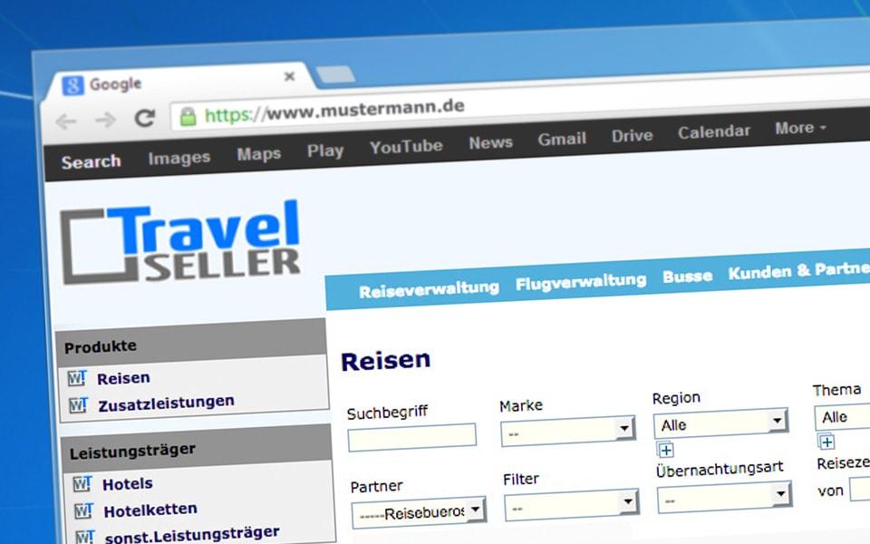 Reiseverwaltung Reiseveranstalter - Travelseller