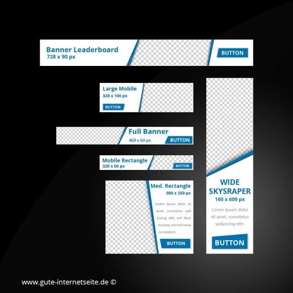 Web Banner Set Vorlage Business Edge Blau