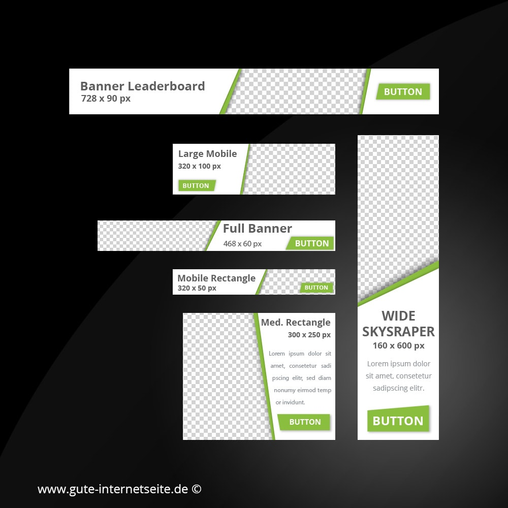 Web Banner Set Vorlage Business Edge Gruen
