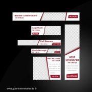 Web Banner Set Vorlage Business Edge Rot