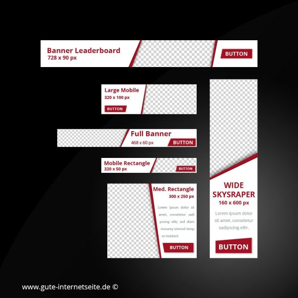 Web Banner Set Vorlage Business Edge Rot