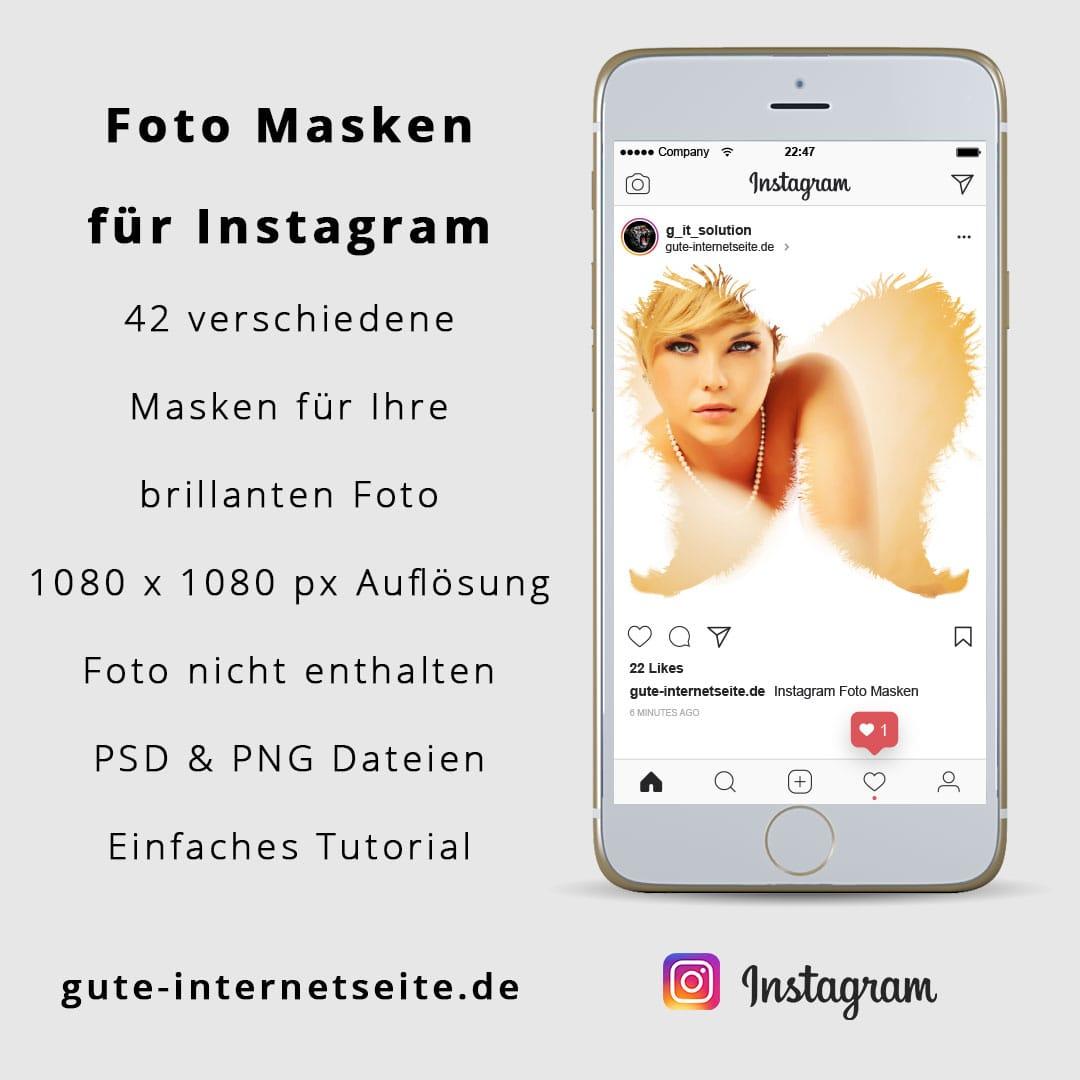 Instagram Vorlagen - Foto Masken fuer Bilder