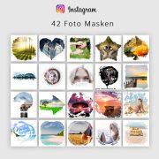 Instagram Vorlagen – Foto Masken für Bilder