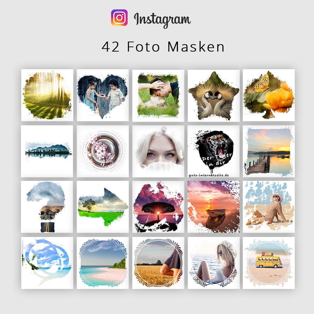 Instagram Vorlagen - Foto Masken für Bilder